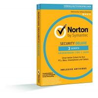 Virenscanner Norton Security Deluxe 2018 | 3 Geräte | 1 Jahr | PC/Mac/iOS/Android | Download