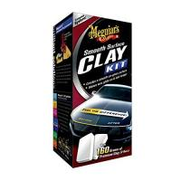 Reinigungsknete Meguiar's G1016EU Smooth Surface Clay Kit, 473ml+2*80g Lackreinigungsset