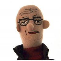 The Unemployed Philosophers Guild Michel Foucault Finger Puppet and Refrigerator Magnet - for Kids and Adults
