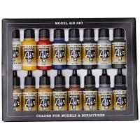 Airbrush Acrylicos Vallejo Model Air Set - Basic Colors (x16) (VAL71178)