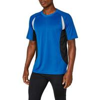 Fahrradshirt James & Nicholson Herren kurze Ärmel T-Shirt Running T blau (royal/black) X-Large