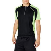 Fahrradshirt James & Nicholson Herren Kurzarm Bike T-shirt schwarz (black/lime-green) X-Large