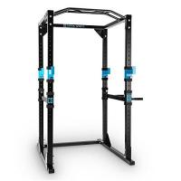 Turnreck Capital Sports Tremendour Power Rack Power Cage Kraftstation 2 x Safety Spotter: 20-stufig 4 x J-Hooks Multigripp-Klimmzugstange aufsteckbare Dipstangen Stahl-Kantrohrrahmen schwarz
