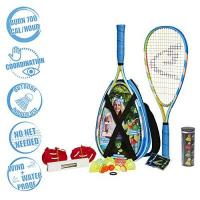 Tennis Set Speedminton S700 Set – Original Speed Badminton/Crossminton Allround Set inkl. 5 Speeder, Spielfeld, Tasche