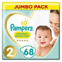 Pampers Pampers Premium Protection Windeln New Baby, Gr. 2 Mini (4-8 kg), Jumbopack, 1er Pack (1 x 68 Stück)