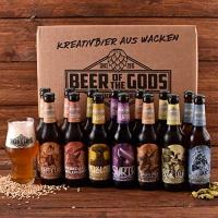 Craft Beer Wacken Brauerei Göttergabe Craft Beer Paket - 14 x Beer of the Gods 0,33l inkl. Craftbeer Glas - Craft beer Set - Geschenkset Bier