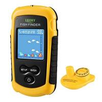 Angel LUCKY Fischfinder Wireless Farbe Tragbarer Portable Angeln Sonar Sensor Verkabelt LCD Tiefe Finder Echolot