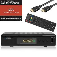 DVB-C TV-Stick Anadol ADX 111c digitaler Full HD Kabel-Receiver [Umstieg Analog auf Digital] inkl. XAiOX® HDMI Kabel (HDTV, DVB-C / C2, HDMI, Chinch-Video, Mediaplayer, USB 2.0, 1080p) [autom. Installation]- schwarz