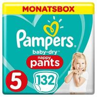 Pampers Baby-Dry Pants, Gr.5, 12-17kg, Monatsbox, 1er Pack (1 x 132 Stück)