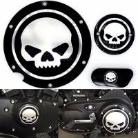 Harley Davidson Sportster Frenshion Motorcycle Chrome Skull Timing Accessories Motor Derby Timer Cover for Harley Sportster XL 883 1200 IRON 04 (Pack of 3)