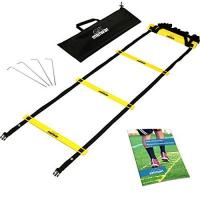 gipfelsport Koordinationsleiter Trainingsleiter Set, 6m mit Tasche und Heringen | Geschwindigkeitsleiter | Agility Speed Ladder für Fussball, Fitness, Sport, Handball, Football | + Gratis eBook