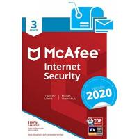 Virenschutz McAfee Internet Security 2019 | 3 Geräte | 1 Jahr | PC/Mac/Smartphone/Tablet | Download