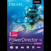 Videobearbeitungsprogramm CyberLink PowerDirector 16 Ultimate [Download]
