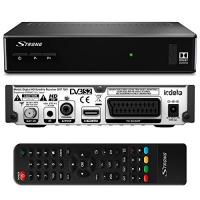 CI+-Receiver Strong SRT 7501 HD Satelliten Receiver für ORF-Karte DVB-S2 Full HD (HDTV, HDMI, SCART, USB, Koaxialausgang) Schwarz