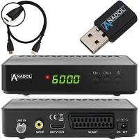 Sat-Receiver mit Festplatte Anadol HD 200 Plus HD HDTV digitaler Satelliten-Receiver (Wifi, HDTV, DVB-S2, HDMI, SCART, 2x USB 2.0, Full HD 1080p, Youtube) [vorprogrammiert] inkl. HDMI Kabel - schwarz