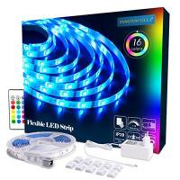 LED-Fernbedienung Pangton Villa LED Strip RGB 5m LED Licht Streifen SMD 5050 Leds mit Netzteil, Fernbedienung Led stripes Lichtband Leiste Band Beleuchtung