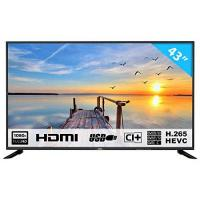 Fernseher HKC 43 F6 43 inches (109 cm) LED TV (Full HD, triple tuner, DVB-T2 / T / C / S2 / S, H.265 hevc, CI +, multimedia player Via USB) [Class of energy efficiency A] [Energy Class A]