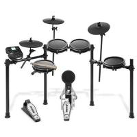 Schlagzeug Alesis Schlagzeug Nitro Mesh Kit - Achtteiliges Mesh E-Drum Set mit Superstabilem Aluminium Rack, 385 Sounds, 60 Play-Along Tracks, Anschlusskabeln, Drum Sticks und Drum Key inklusive