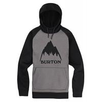 Burton Snowboard Kapuzenpullover Crown Bonded Heather Monument-True Schwarz (Medium, Grau)